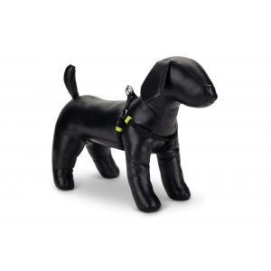Hondentuig nylon Uni 26-40cm zwart