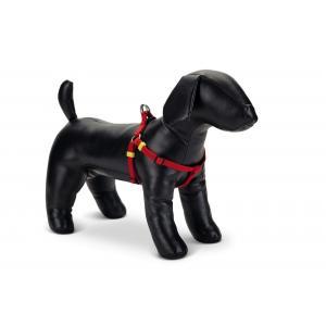 Hondentuig nylon Uni 60-100cm rood