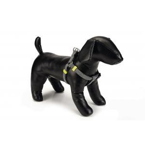 Hondentuig nylon Vista 26-40cm donkergrijs