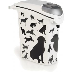Curver hondenvoer container silhouette 23 liter - Curver hondenvoer container silhouette 23 liter Nooit meer struikelen over een zak hondenbrokken? Gebruik dan de Curver Voedselcontainer. In deze voedselcontainer kun je eenvoudig hondenbrokken bewaren, zonder dat ze uitdrogen. Deze handige voedselco...