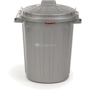 Curver ton voor hondenvoer met deksel grijs 45 liter