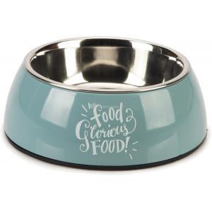 Hondenvoerbak Glorious blauw 18 cm