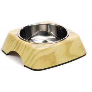 Hondenvoerbak Natural Wood 14 cm