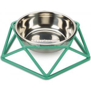 Hondenvoerbak Puroni groen 15 cm