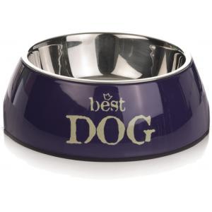 Hondenvoerbak rond Best Dog blauw 14 cm