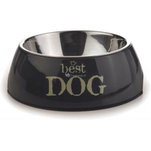 Hondenvoerbak rond Best Dog grijs 18 cm