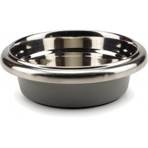Hondenvoerbak rvs easy grip grijs 23 cm