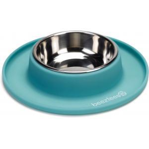 hondenvoerbak siliconen met rvs bakken mint 19 cm