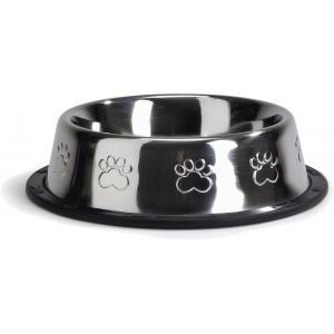 Hondervoerbak antislip met voetopdruk. 16,5 cm