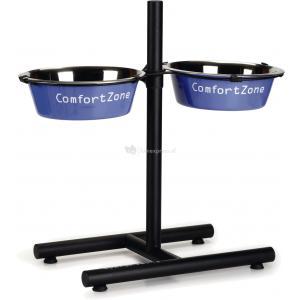 Standaard Comfort Zone met 2 blauwe 25 cm hondenvoerbakkenbakken