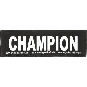 Julius-K9 tekstlabel Champion 11 x 3 cm