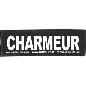 Julius-K9 tekstlabel Charmeur 16 x 5 cm
