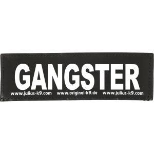 Julius-K9 tekstlabel Gangster 11 x 3 cm