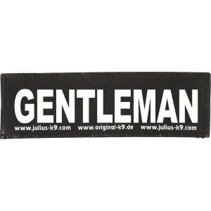 Julius-K9 tekstlabel Gentleman 11 x 3 cm