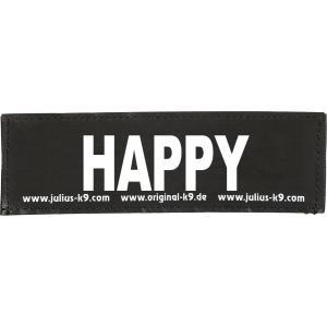 Julius-K9 tekstlabel Happy 16 x 5 cm