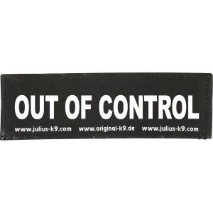 Julius-K9 tekstlabel Out of Control 11 x 3 cm