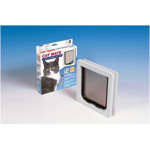Dagaanbieding - Cat Mate kattenluik met vierwegsluiting 13mm wit dagelijkse koopjes