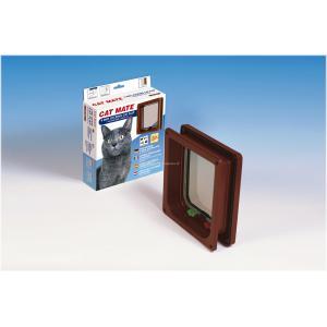 Cat Mate kattenluik met vierwegsluiting 50mm bruin