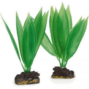 Kunststof aquariumplant groen set van 2 stuks
