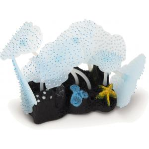Zeeanemoon blad glow in the dark blauw aquarium decoratie