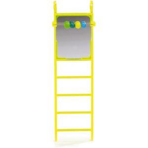 Parkieten ladder met spiegel en telraam