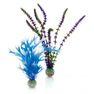 Decoratie Aquarium Easy Plant Blauw Paars M Biorb