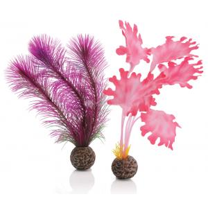BiOrb zeewier set klein roze aquarium decoratie