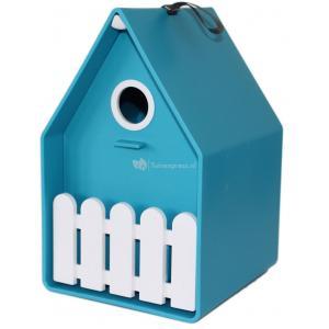 Landhaus vogelhuisje turquoise