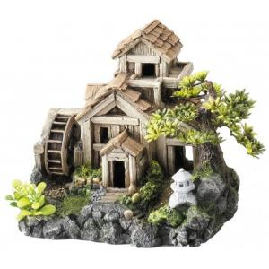 Huis Bonsai Mill aquarium decoratie