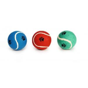 Tennisbal met voetopdruk jumbo hondenspeelgoed