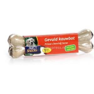 DeliSnacks gevuld kauwbot met pens hondensnack - 1 stuks - 15 cm